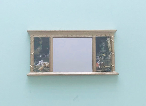 Gilt Mirror with Pictures