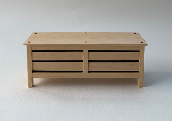 Modern Rustic Chest of Drawers with 4 Drawers