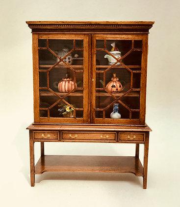 Glazed Cabinet on Sidetable