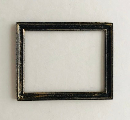 Rectangular Frame in Black and Gilt Finish