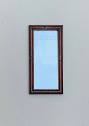 Mirror with painted wooden frame