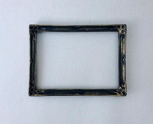 Rectangular Frame in Black and Gilt Finish