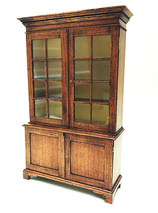 Glazed Display Cabinet with Silk Lining