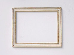 Rectangular Frame in cream and gold
