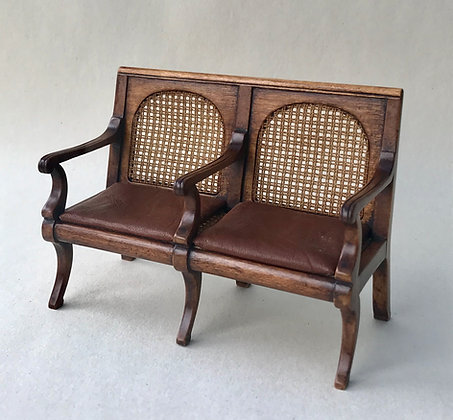 Caned Hall Bench Seat