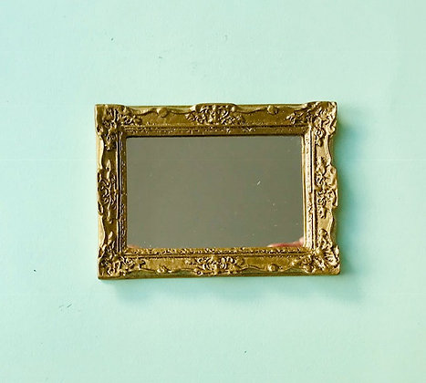 Ornate Rectangular Frame in Gilt Finish