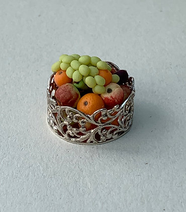 Fruit in Silver Bowl by Et Cetera