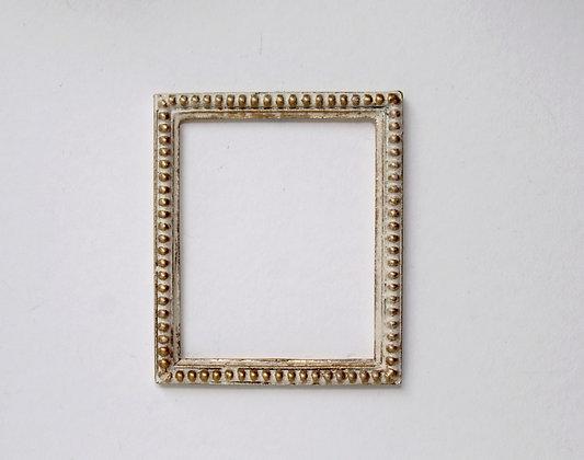 Rectangular Frame in white and gilt