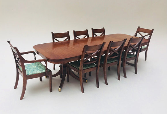 8 Seater Table with Twin Pedestals