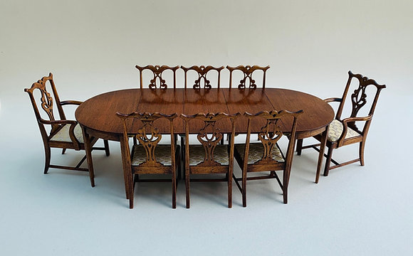 8 seater D end Table with Legs