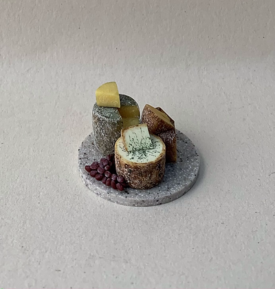 Cheese Board on Marble by Et Cetera