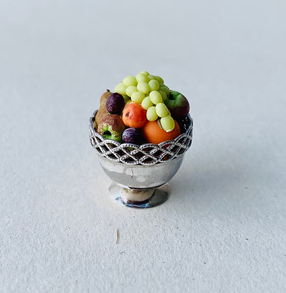 Fruit in Silver Bowl