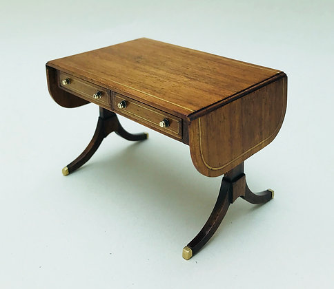 Sofa Table with Brass Inlay