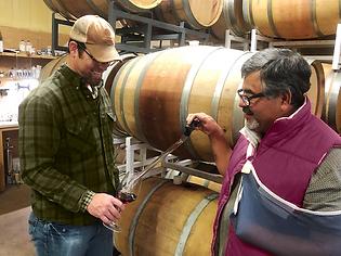 Bub and Manuel color correct barrel tast