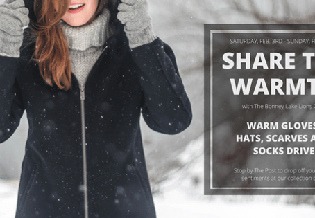 Share the Warmth this Winter and Donate!