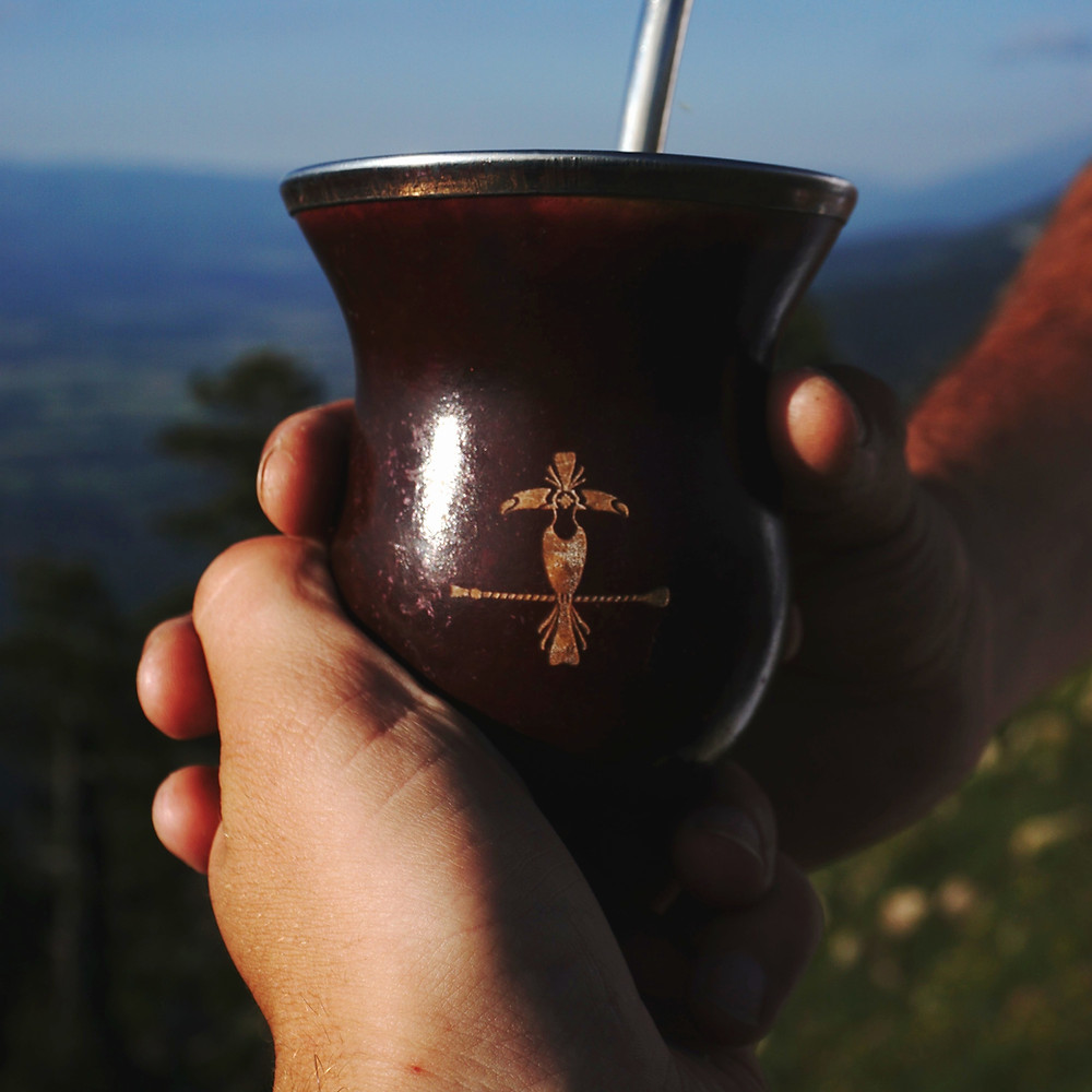 Each person in the round drinks the mate to the end and gives it back to the cebador so that the cebador can refill it.
