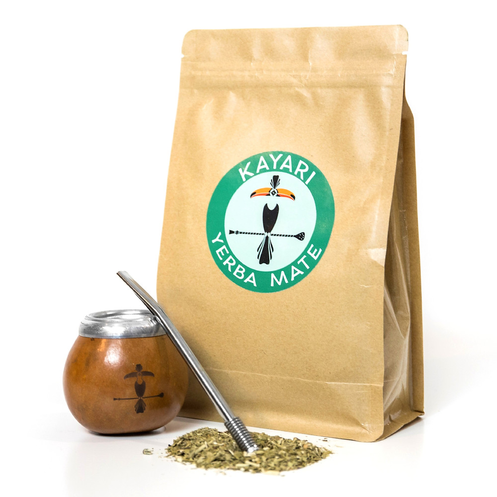 Best mate pack to start with a 100% authentic calabash mate, bombilla and 500 grams of Yerba Mate Kayari