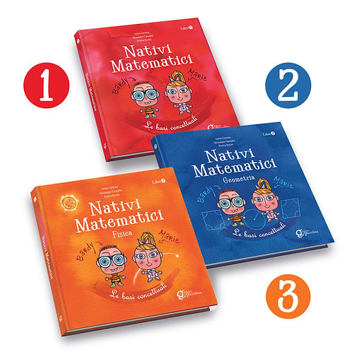 Set 3 volumi Nativi Matematici