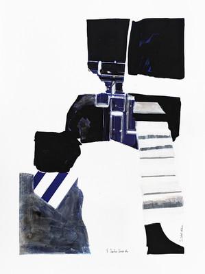 Surface Series 5 - Indigo and Black
