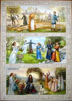 Viduslaiku kalendārs. Pavasaris