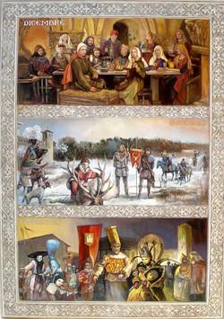 Viduslaiku kalendārs. Ziema