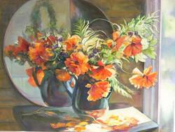 Oranžās peonijas