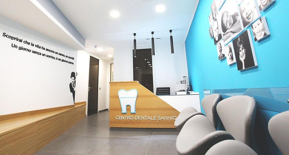 dentista a Benevento la hall dello studio dentistico