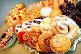 Continental breakfasts, breakfast buffets, coffee, danish, hash browns