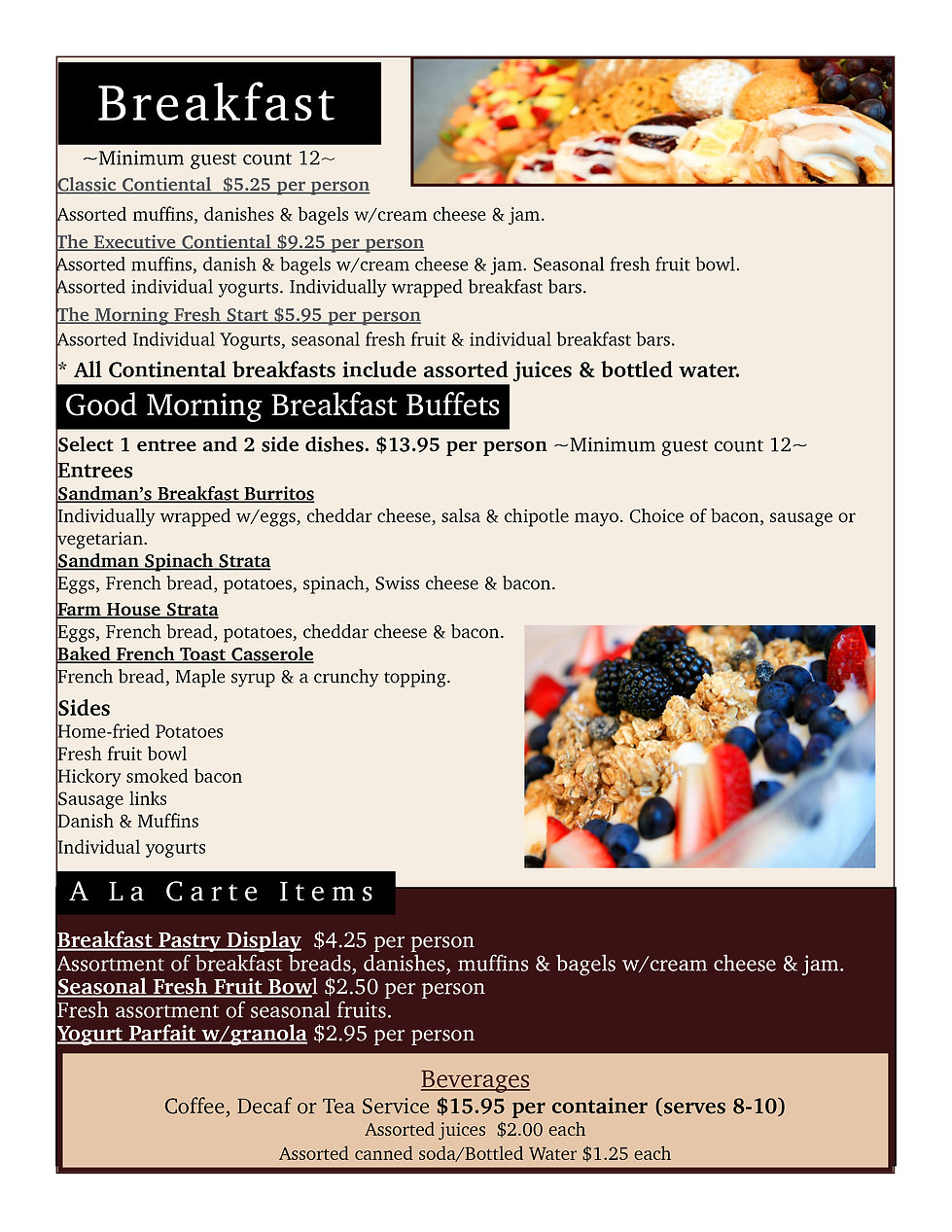 breakfast, catering, continental breakfast, eggs, breakfast sandwich, fresh fruit, coffee, bagels, hot buffets, corporate breakfast catering