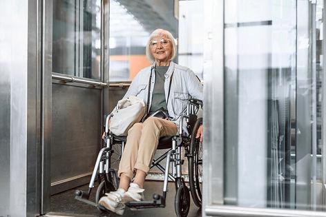 Full length portrait of old female holdi