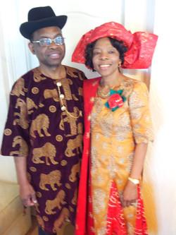 Ngozi and Husband 60th Bday at Home