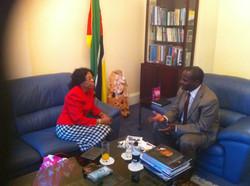 Ngozi & High Commissioner Mozambique