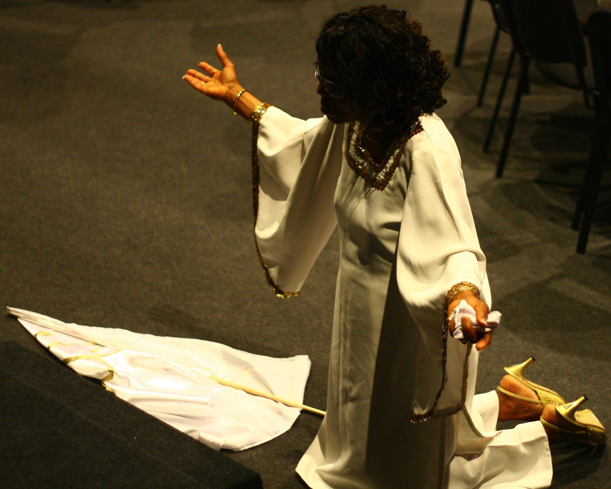 Ngozi Okike in Worship Mode
