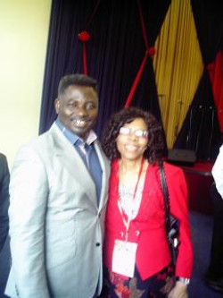 Ngozi with Pastor Matthew Ashimolowo