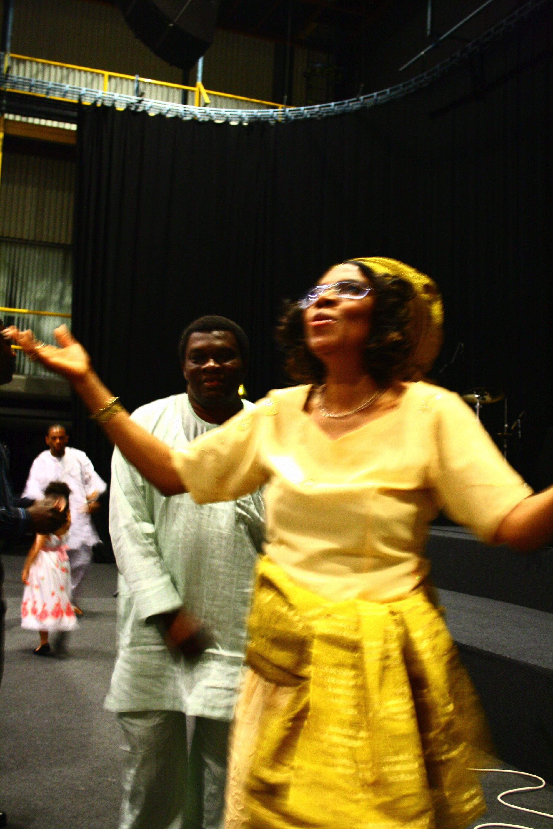 Ngozi Okike in Worship Mode