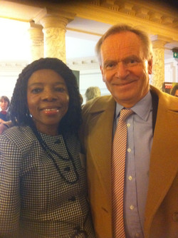 Dr Ngozi Okike with Lord Archer