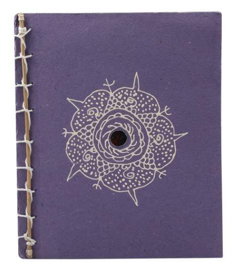 Handmade Notepad - Purple Painted