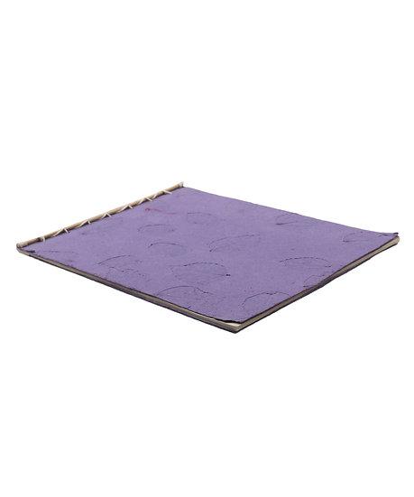 Purple Notepad - Leaf Print