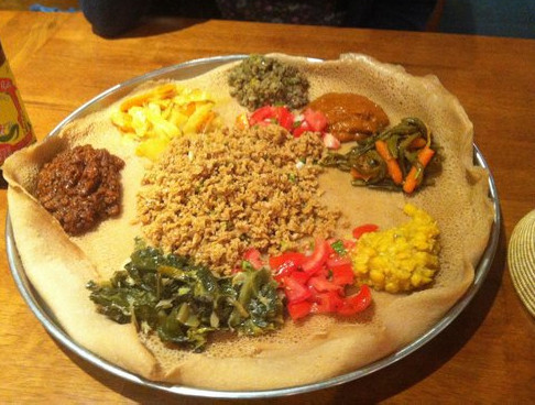 Healthy, vegan and yummy Ethiopian Injera