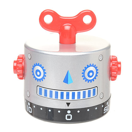 Silver Robot Kitchen Timer