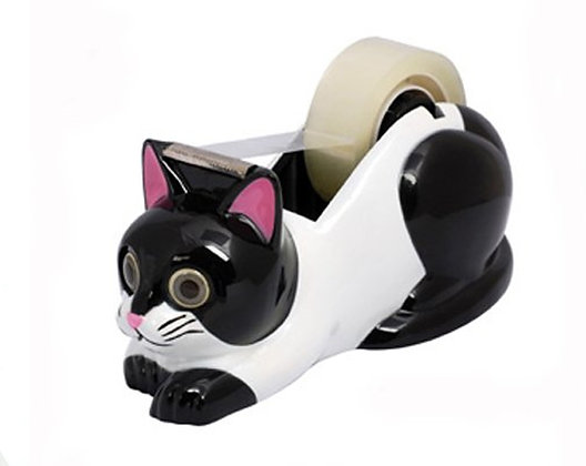 Black and White Cat Tape Dispensers