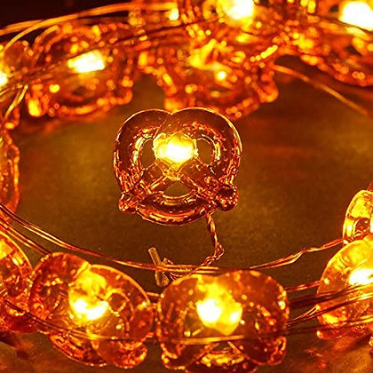 Pretzel String Lights 25ct Battery Operated