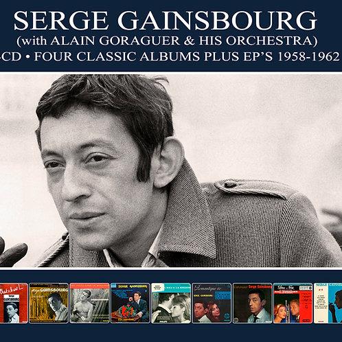 SERGE GAINSBOURG • 4CD • FOUR CLASSIC ALBUMS PLUS EP'S 1958-1962
