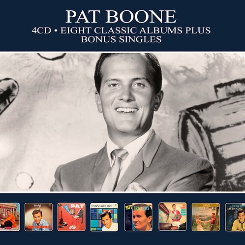 PAT BOONE • 4CD • EIGHT CLASSIC ALBUMS PLUS BONUS SINGLES
