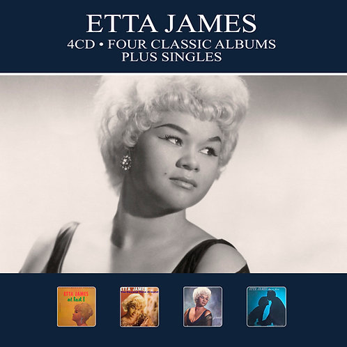 ETTA JAMES • 4CD • FOUR CLASSIC ALBUMS PLUS SINGLES