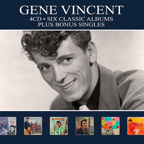 GENE VINCENT • 4CD • SIX CLASSIC ALBUMS PLUS BONUS SINGLES