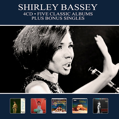 SHIRLEY BASSEY • 4CD • FIVE CLASSIC ALBUMS PLUS BONUS SINGLES