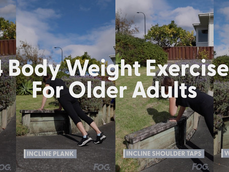 4 Body Weight Exercises For Older Adults