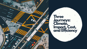 Three Journeys: Climate Impact, Cost, and Efficiency