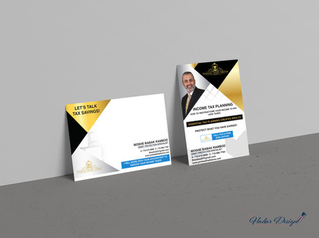 Free Postcard Flyer Mockup PSD For Prese